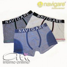 BOXER NAVIGARE 930 MICRO-RIGHE TRIS ASSORTITO