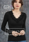 Maglia Sublyme costina The luxury cashmere ultra light V pizzo