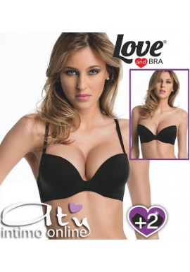 REGGISENO SUPER PUSH UP +2 Taglie LOVE AND BRA MARAVIGLIOSO