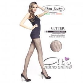 Collant GLITTER a rete by Alan Socks