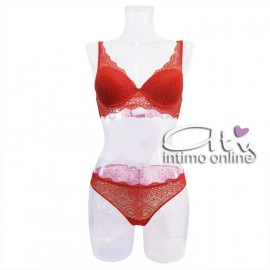Completino lingerie in pizzo rosso Infiore Joy