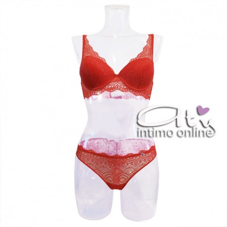 aab4534874 Completino lingerie in pizzo rosso Infiore Joy - Completi Intimi Infiore
