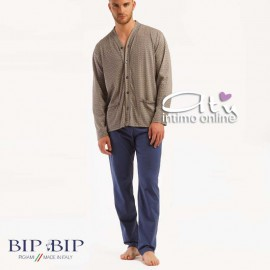 BipBip pigiama da uomo cardigan estivo optical 2110 made in Italy